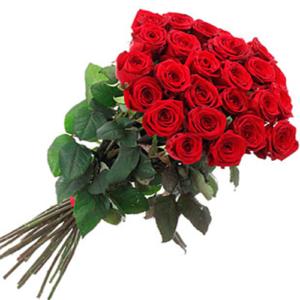 24 rose rosse red Naomi stelo medio/alto