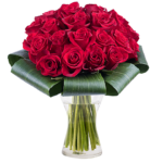 Bouquet con 21 rose rosse
